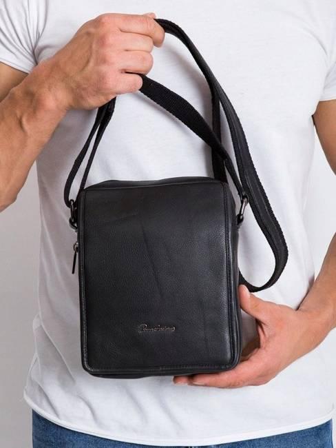 Skórzana męska torba Pierre Andreus 5031 czarna