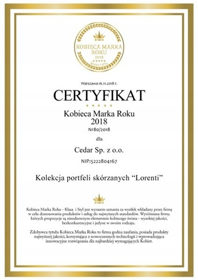 Skórzana portmonetka damska fioletowa Lorenti 55287