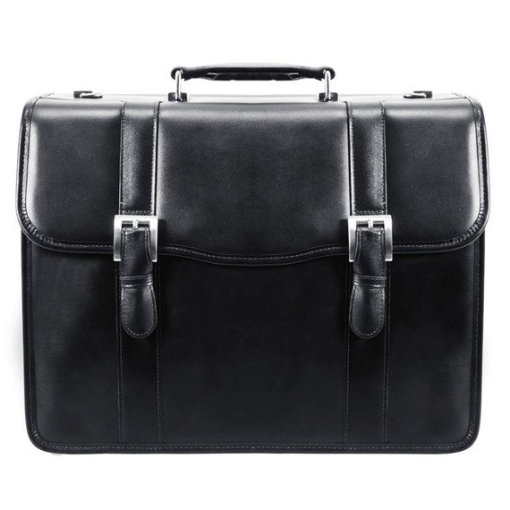 """Skórzana teczka męska Mcklein Flournoy 85955 na laptopa 15,6"""" czarna"""