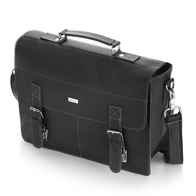 Skórzana teczka torba męska vintage PAOLO PERUZZI G-02-BL czarna