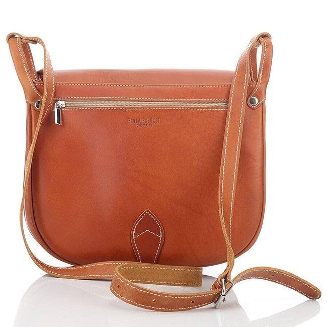 Skórzana torba damska brązowa PAOLO PERUZZI Adventure GA315