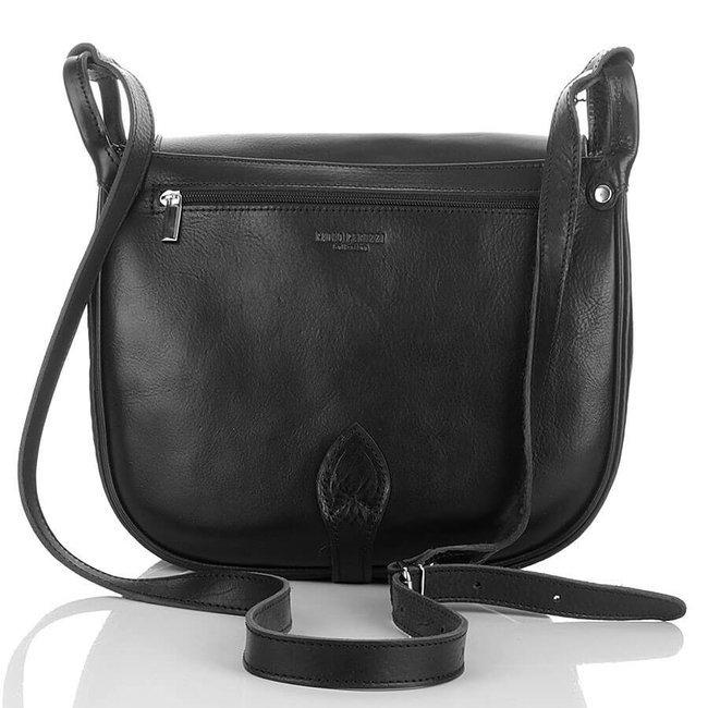 Skórzana torba damska czarna PAOLO PERUZZI Adventure GA315