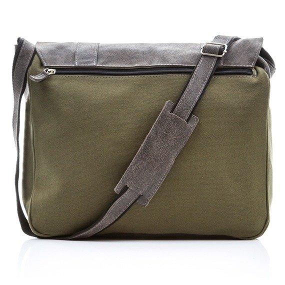 Skórzana torba męska Paolo Peruzzi Adventure GA132 zielono-czarna