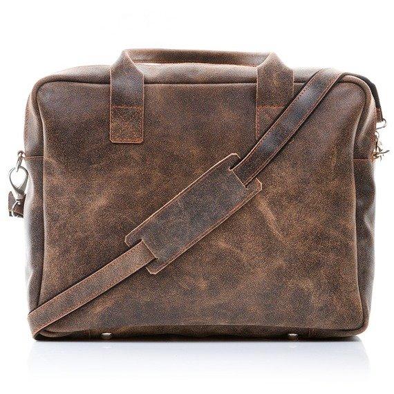 Skórzana torba męska Paolo Peruzzi Adventure GA134 czarna