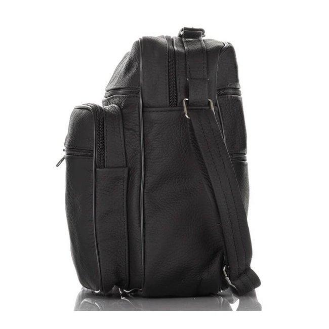Skórzana torba męska do pracy czarna PAOLO PERUZZI B-02