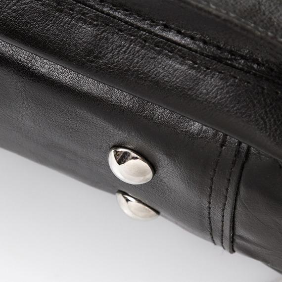 Skórzana torba męska do ręki i na ramię PAOLO PERUZZI GA144 czarna
