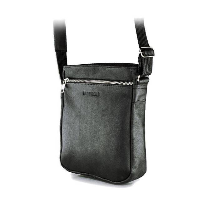 Skórzana torba męska listonoszka BRODRENE BL08 czarna