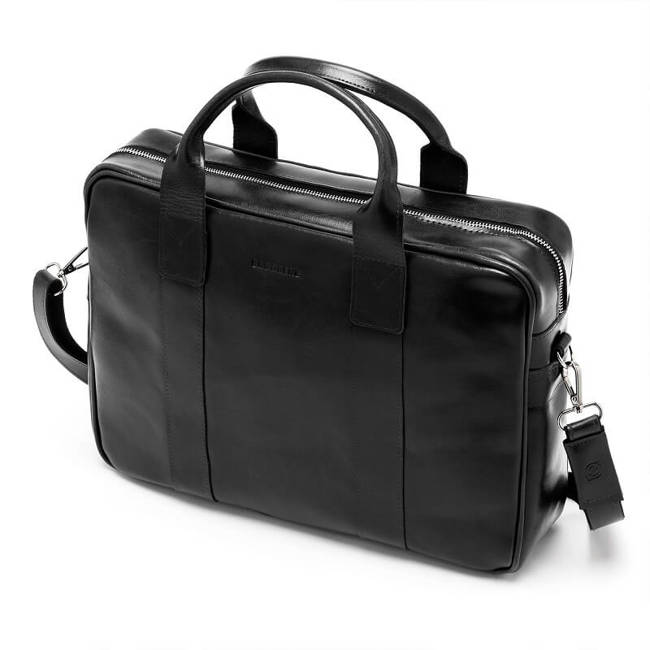 Skórzana torba męska na laptopa BRODRENE R01 czarna
