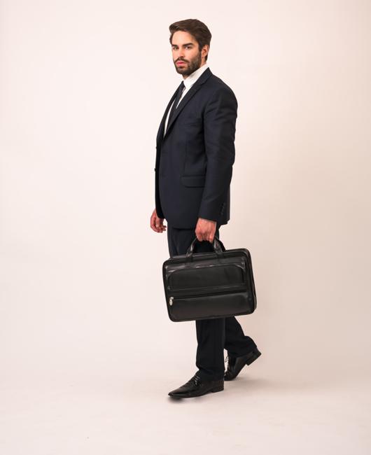 Skórzana torba męska na laptopa Mcklein Elston 86485