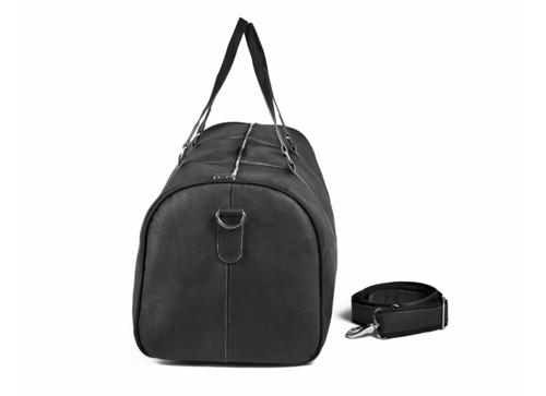 Skórzana torba męska podróżna BRODRENE BL20 czarna