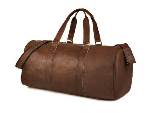 Skórzana torba męska podróżna BRODRENE BL20 jasnobrązowa