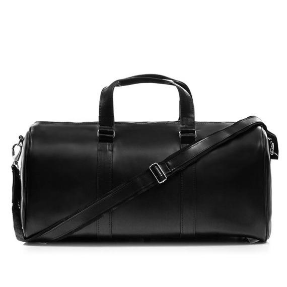 Skórzana torba męska podróżna BRODRENE R20 czarna