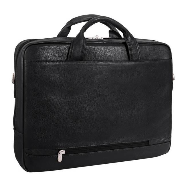 """Skórzana torba na laptopa 13,3"""" Mcklein Montclare 15495S czarna"""