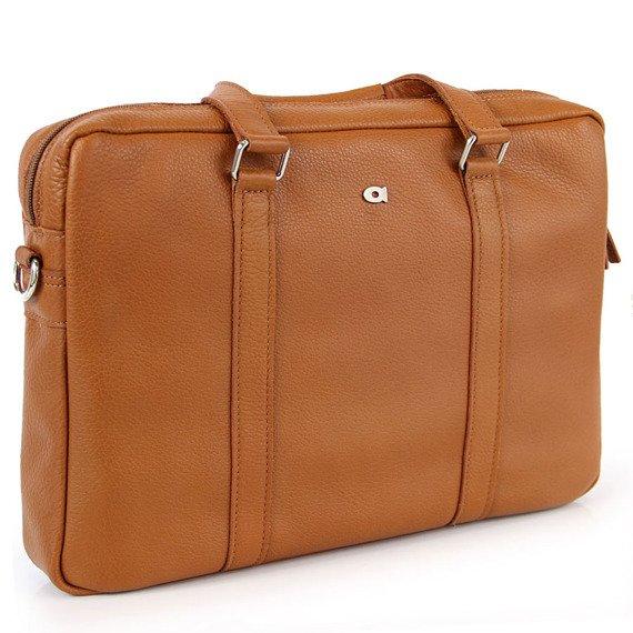 "Skórzana torba na laptopa 13,3"" unisex Daag Shaker 4 koniakowa"