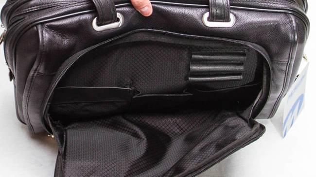 """Skórzana torba na laptopa 15,4"""" Mcklein Irving Park 15575 czarna"""