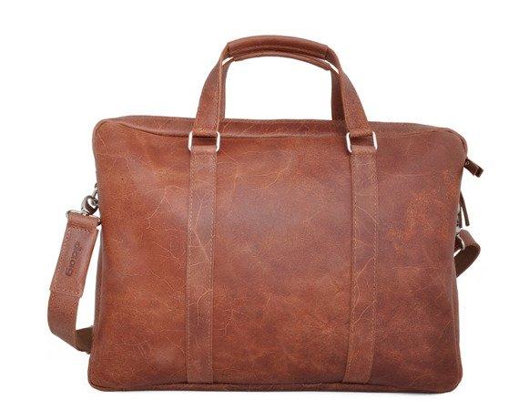 """Skórzana torba na laptopa 15"""" unisex DAAG Funky Go! 38 jasnobrązowa"""