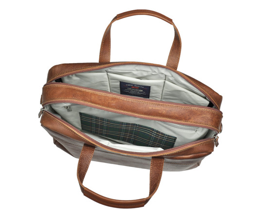Skórzana torba na laptopa DAAG FUNKY GO! 42 jasnobrązowa