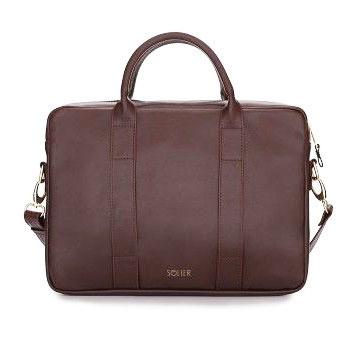 Skórzana torba na laptopa Felice Gold FG04 bordowa