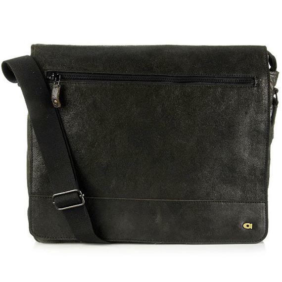Skórzana torba na ramię unisex DAAG Jazzy Run 3 czarna