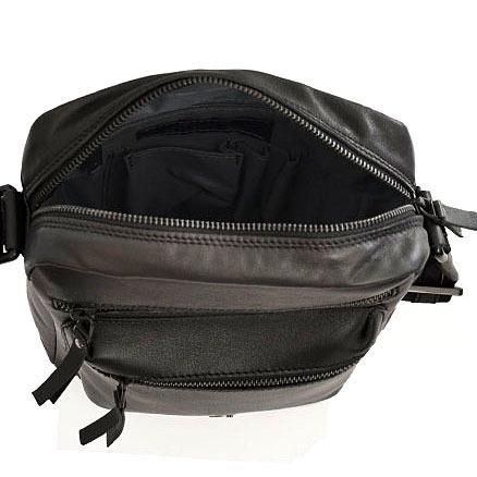 Skórzana torba na ramię unisex Daag Storm 3 ciemnobrązowa