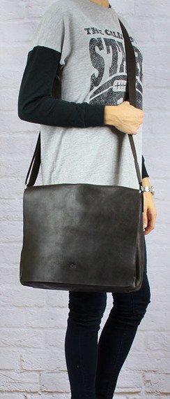 Skórzana torba na tablet unisex DAAG Jazzy Smash 74 brązowa