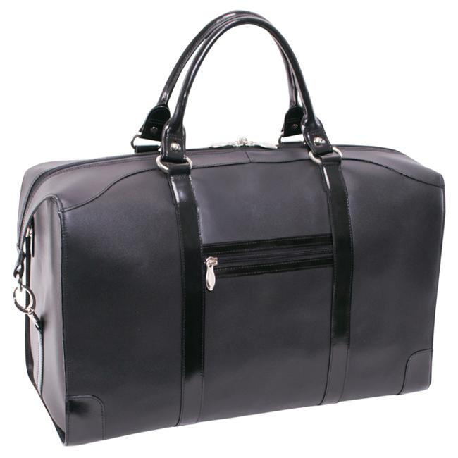 Skórzana torba podróżna McKlein Renfroe 88175 czarna