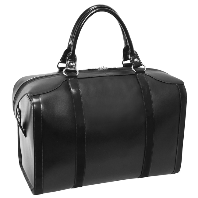 """Skórzana torba podróżna McKlein Throop 18"""" 88205 czarna"""