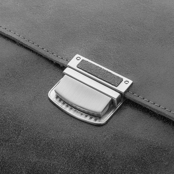 Skórzana torba teczka męska vintage Paolo Peruzzi S-04 szara
