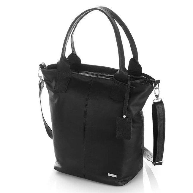 Skórzana torebka damska czarna Paolo Peruzzi B-28-BL