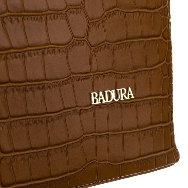 Skórzana torebka damska j. brązowa  Badura T_D213BR_CD