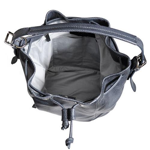 Skórzana torebka worek szara DAAG Native 10