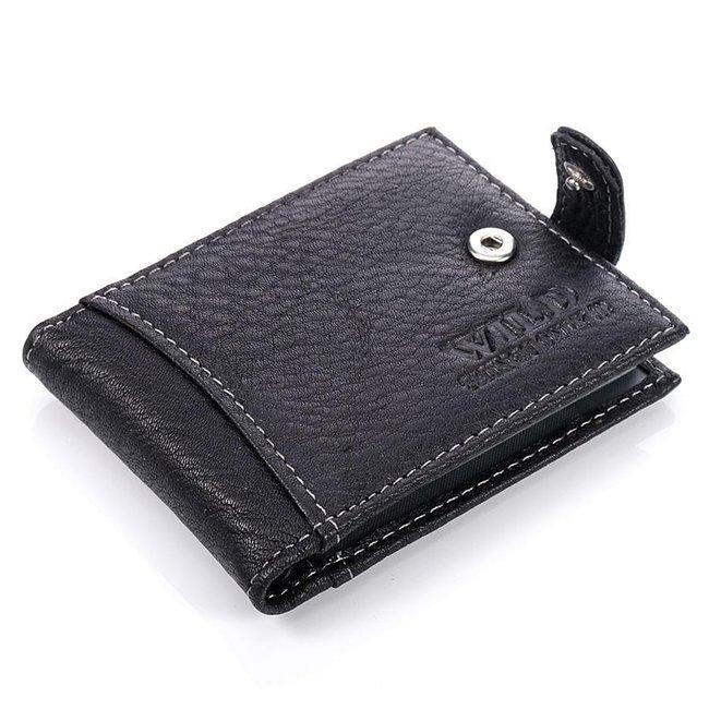 Skórzane czarne etui na dokumenty, karty, wizytówki GA5