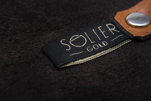 Skórzane etui na klucze SOLIER SA11 jasnobrązowe