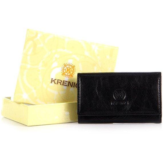 Skórzane etui na wizytówki, karty KRENIG Classic 12035