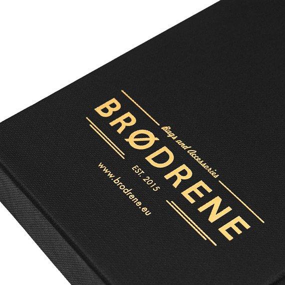 Skórzany cienki portfel slim wallet z bilonówką BRODRENE SW01+ czarny