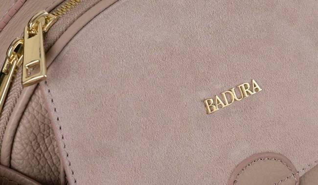 Skórzany kuferek damski j. różowy Badura T_D212JR_CD