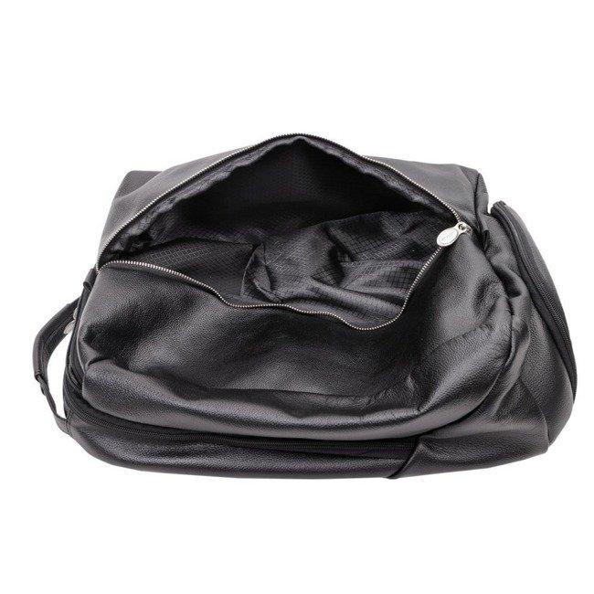 Skórzany plecak męski na laptopa McKlein South Shore czarny