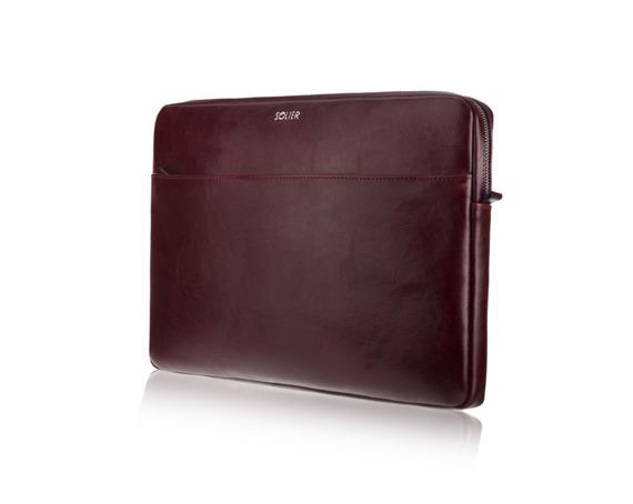 Skórzany pokrowiec na laptopa 13 cali Solier SA24 Bordowy