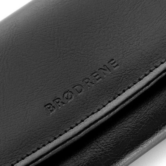 Skórzany portfel damski Brodrene A-11 czerwony