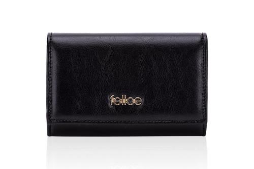 Skórzany portfel damski Felice P06 czarny