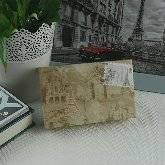 Skórzany portfel damski lakierowany brązowy Paris Design 64003