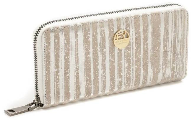 Skórzany portfel damski srebrny Forever Young 77006