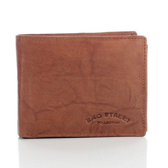 Skórzany portfel męski Bag Street GA189 koniakowy