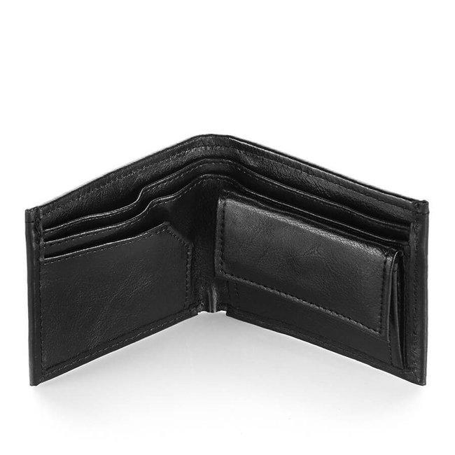Skórzany portfel męski czarny Paolo Peruzzi L-29