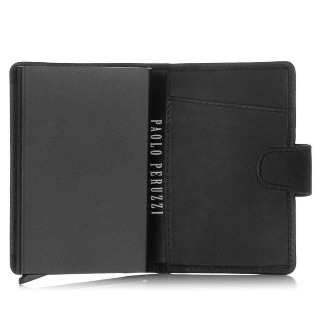 Skórzany portfel męski czarny RFID Paolo Peruzzi RFID IN-69-BL