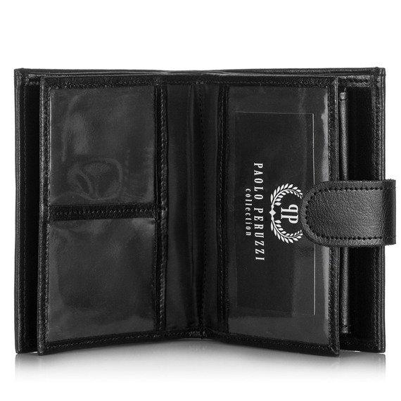 Skórzany portfel męskie PAOLO PERUZZI GA173 brązowy