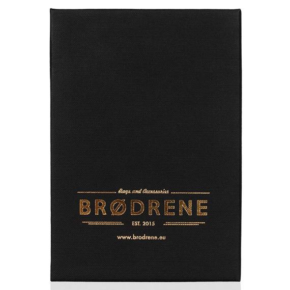 Skórzany zestaw portfel i bilonówka BRODRENE SW02 + CW02 granatowy