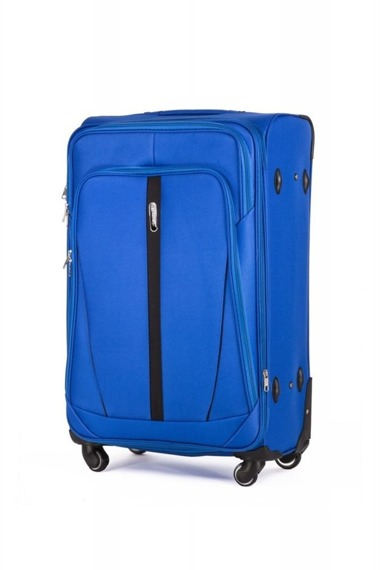 Średnia walizka miękka M Solier STL1706 jasnoniebieska