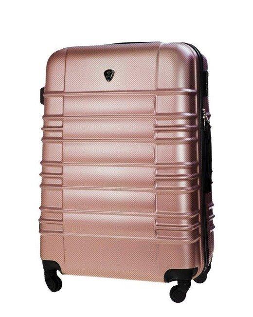 Średnia walizka podróżna M STL838 rose gold