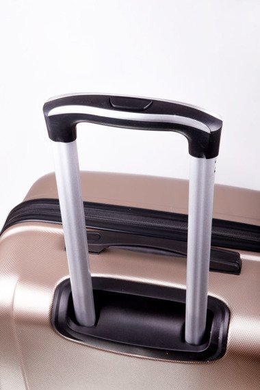Średnia walizka podróżna na kółkach SOLIER STL402 M ABS srebrna